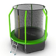 Батут с внутренней сеткой и лестницей EVO JUMP Cosmo 6ft (Green) + Lower net. фото