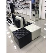 Комплект пуфов и кресел для обувного магазина или зоны ожидания фото