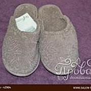 Тапочки женские Soft Cotton LEAF коричневый 36-38 фото