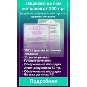 Лицензия на лом черных и цветных металлов, лицензия на опасные отходы I-IV класс опасности фото