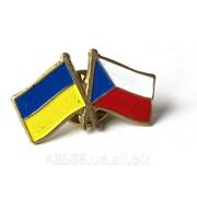 Значок Украина-Чехия С012 фото