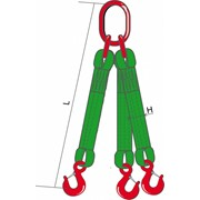 Трехветвевой строп текстильный 3СТ-2 ТН, 6 м фото