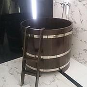 D1.2м-H1.2м Купель круглая из дуба / лиственницы фото
