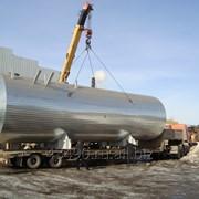 Утепленные стальные резервуары на санях фото