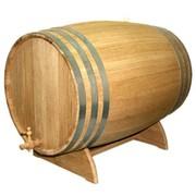 Бочка для вина дубовая на подставке 80л фото