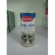 Оливки зеленые с анчоусом Baresa Green olives 410 г фото