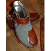 Туфли мужские Джинсовый-Клапан на заказ, Киев фото