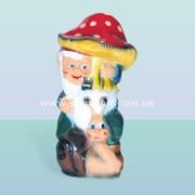 Садовая скульптура Гном с грибом (М) фото