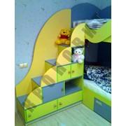 Набор мебели для детской комнаты (двухъярусная кровать, шкаф, рабочее место) фото