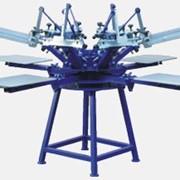 Шелкотрафаретная карусель с микроприводками модель SCHULZE KN 6/6 (6 столов/6цветов) фото