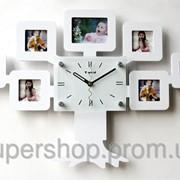Часы настенные Родовое дерево на 7 фото белые 110-1083369 фото