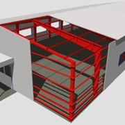 Здания модульные, прямостенные ангары фото