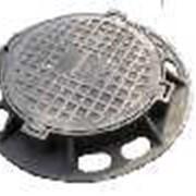 Люки канализац. чугун. тяжелые,H-120(25.0т)(ОПТ.) фото