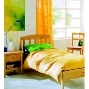 Односпальне ліжко дерев'яне К306 (Висота-65) фото