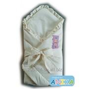 Конверт-одеяльце на выписку Мишка на луне ( кремовый) Anikababy фото