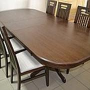 Раздвижной стол из дерева от производителя фото