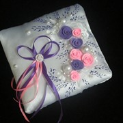 Подушечка акрил фиолетовая с розовым фото