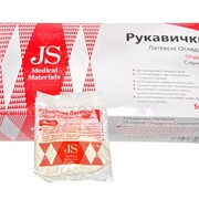 Перчатки JS смотровые, опудренные, стер. р.L,M,S пара фото