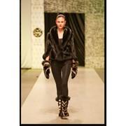 Куртка из натуральной норки и песца Модель: M362 фото