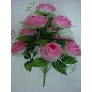 Цветок искусственный 12 цветков розы Арт.055-12 фото
