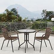 Комплект мебели Асоль-1D CDC01/TLH060-D60 Brown (2+1) [УЦЕНКА] фото