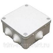 Коробка распаечная КЭМ 5-10-7 95х95х45 мм, IP44, 7 вводов, открытой проводки (250/380В, 10А) белая фото