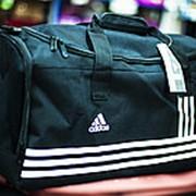 Спортивная дорожная сумка ADIDAS большая 56х26х30 см черная фото