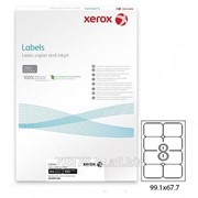 Этикетка самоклеящаяся Xerox, A4, размер105*71,25 мм, 8 этикеток фото