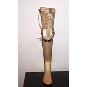 Протезы голени шинно-кожаные фото