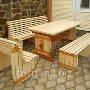 Комплект мебели Пивной, для беседки, сауны, бани фото