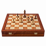 Шахматы ларец Классические Махагон фото