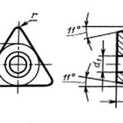 Пластина опорная сменная т/с 3-х гранная с задним углом ГОСТ 19074-80 фото