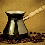 Медная кофеварка фото