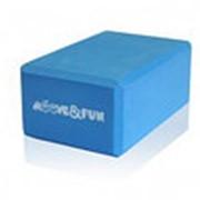 Блок для занятий йогой голубой MF-BRICK-BLOCK-LT.BLUE фото