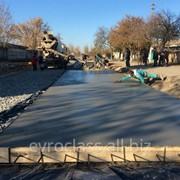 Строительство бетонных дорог фото