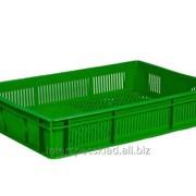 Пластиковый ящик для овощей и фруктов 600x400x110 фото