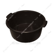 Таз полиэтиленовый не пищевой 19л черный круглый №438445 фото