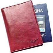 Стильная обложка на паспорт Air Lux (винный) фото
