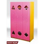 """Купить шкаф для детского садика """"Азбука"""" , шкафчик для детского сада, Код: 0609МДФ"""