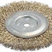 Щетка дисковая для шлиф маш, стальная, 16мм / 125мм Код:3518-125-16 фото