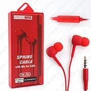 Внутриканальные наушники Karler BASS KR 205 RED фото
