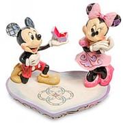 "Статуэтка ""Микки и Минни с кольцом (Волшебный момент)"" 14,5х12х11,5см. арт.4055436 Disney фото"