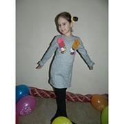 """Платье для девочки """"Китти"""" с мехом фото"""