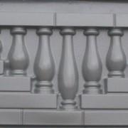 """Форма для еврозабора № 11 """"Камень с балясинами"""" фото"""