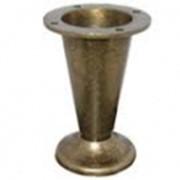 Ножка мебельная регулируемая (Код: KONIC (BRONZ)) фото