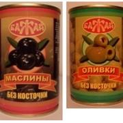 Оливки с красным перцем фото
