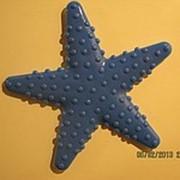 Звезда тонкая синяя Мини-коврики Много видов в наличии. Может использоваться как декор на любых ровных и гладких поверхностях. фото