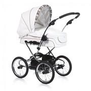 Универсальная коляска 2 в 1 Teutonia Elegance 4990 белый Кожа ELEGANCE4990 фото