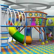 Проектирование и монтаж детских игровых лабиринтов в ТРЦ фото