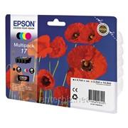 Картридж Epson T17 Expression Home XP-33/103/203/207/303/306/403/406 (C13T17064A10), BkCYM, код 5805 фото
